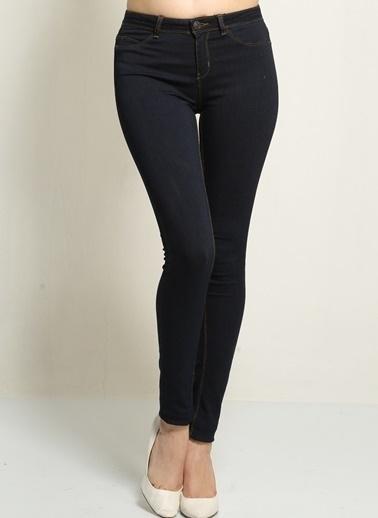 Vero Moda Vero Moda Normal Kalıp Koyu Kadın Pantolon Mavi